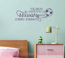 This Princess Wears Cleats Soccer Wall Decals Vinyl Letters