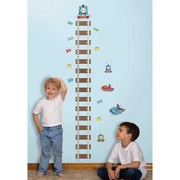 Thomas the Train Growth Chart Wall Decals Peel and Stick Tan