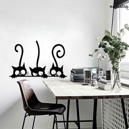 Three Cats Animal Wall Sticker Room Window Decals Mural DIY