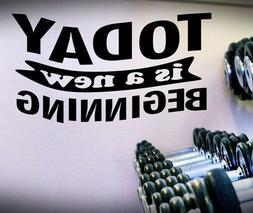 Today...Beginning - Quote Decal,Exercise Fitness Cardio Moti
