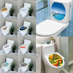 Toilet Seat 3D Wall Sticker DIY Art Paper Mural Removable Ba