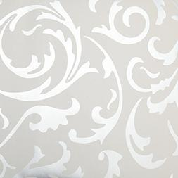 Toprate Emboss Textured Pattern Wallpaper Decal, 394 by 21-I