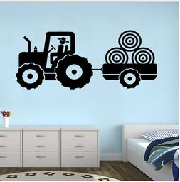 Tractor Vinyl Decal Wall Sticker For Kid's Bedroom Trailer F