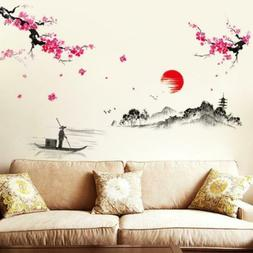 BIBITIME Traditional Chinese Painting Wall Art Sticker 78.74