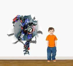 Transformers Optimus Prime Ripped Paper Decal WALL STICKER D