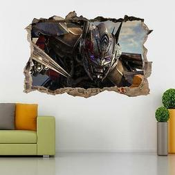 Transformers Optimus Prime Smashed Wall Sticker Decal Home D