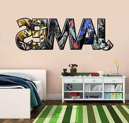 Transformers PERSONALIZED NAME Decal WALL STICKER Optimus Pr
