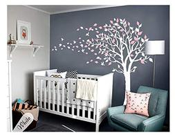 LUCKKYY Tree Blowing in The Wind Tree Wall Decals Wall Stick