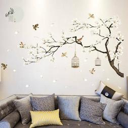 Tree Wall Stickers Birds Flower Home Decor Wall Decals for L