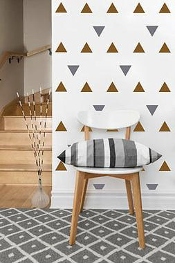 "Triangle Decals | Vinyl Wall Stickers | 2""-4"" inches, set 50"