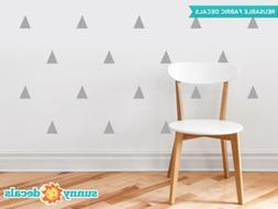 Triangle Fabric Wall Decals - Set of 32 Triangles - Triangle
