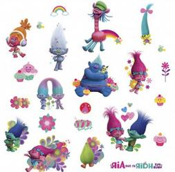 TROLLS MOVIE wall stickers 24 decals glitter Poppy Branch Be
