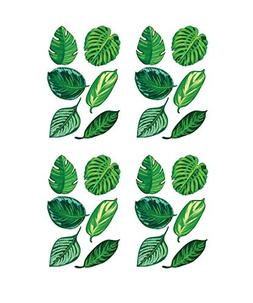 Stickerbrand Set of 24 Tropical Plant Leaves Wall Decal, Haw