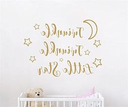 JOYRESIDE Twinkle Twinkle Little Star Quote Wall decal Art V