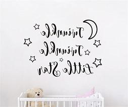 JOYRESIDE Twinkle Twinkle Little Star Wall decal Art Vinyl S