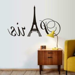 "ufengke® ""Paris"" Eiffel Tower Wall Decals, Living Room Bedr"
