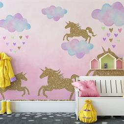 Unicorn Clouds Wall Sticker For Kids Rooms Mural Decals Pain