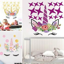 Unicorn Dot Wall Stickers Shining Star Decals Mural Art Kid