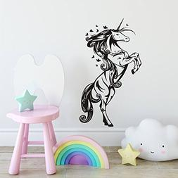 Unicorn Horse Nursery Girls Bedroom Wall Decal Art Vinyl Rem