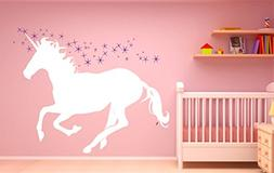 Unicorn Pegasus Magic Horse Wall Decal Sticker Bedroom Dream