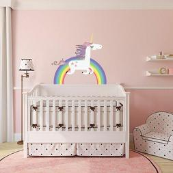 Unicorn Rainbow Wall Sticker Home Decal For Kids Room Girls
