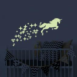 unicorn vinyl wall decals glow in