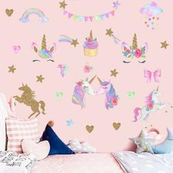 Unicorn Wall Decals Self Adhesive Wall Sticker Kids Room Vin