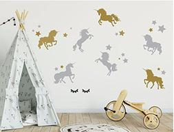 Unicorn Wall Decor - Full Wall Mural - Vinyl Wall Decal for