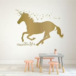 Unicorn Wall Decor Vinyl Decal Personalized with Custom Name