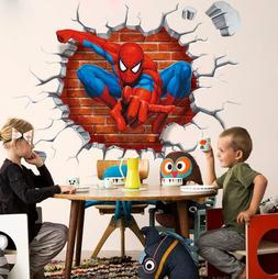 US 3D Wall Stickers Spider man Spiderman Cartoon Room Decal