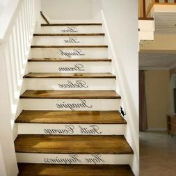 Stairs Decors Wall Art Quote Removable Stickers Vinyl Decals