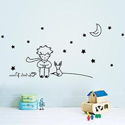 Ussore Wall Decals 1PC Stars Moon The Little Prince Boy Wall