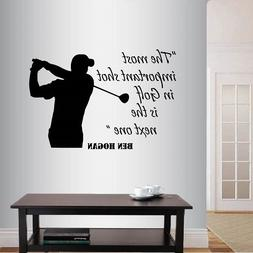 Vinyl Decal It's Cool to Play Golf Tiger Woods Quote Player