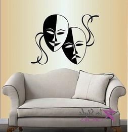 Vinyl Decal Masks Theatre Comedy Tragedy Emotions Acting Act