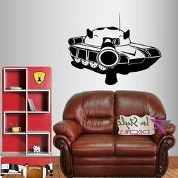 Vinyl Decal Tank Military Fighter Army Force Boys Room Wall