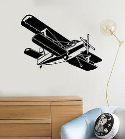 Vinyl Wall Decal Airplane Kids Boy Room Gift for Son Child A