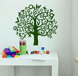 Vinyl Wall Decal Cartoon Tree Alphabets Letters For Kids Roo