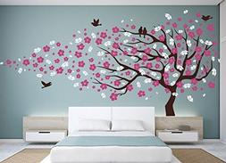 vinyl wall decal cherry blossom