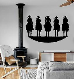Vinyl Wall Decal Cowboys Wild West for Boys Room Stickers Mu