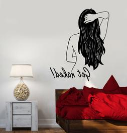 Vinyl Wall Decal Get Naked Back Girl Quote For Bathroom Stic
