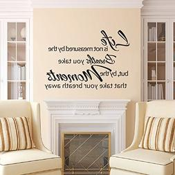 DigTour WallArt Vinyl Wall Decal Life is Not Measured by The