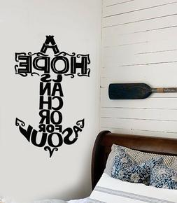 Vinyl Wall Decal Nautical Quote Sailor Hope Is Anchor For So