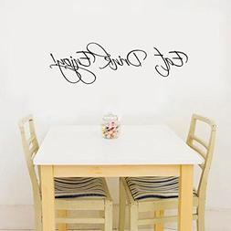 "BIBITIME 22.44""x6.69"" Vinyl Wall Decal Quote Eat Drink Enjoy"