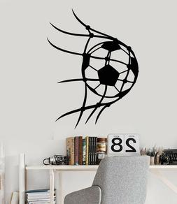 Vinyl Wall Decal Soccer Sport Ball Player For Boys Room Stic