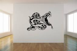 """Viper Snake Fanged Vinyl Wall Sticker Decal 30""""x22"""" Colors"""