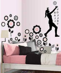 Volleyball Girls, wall decal, sports decal, girls, volleybal