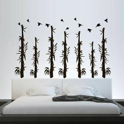 Wall Decal Bamboo Flowers Tree Forest Plants Nature Grass Be