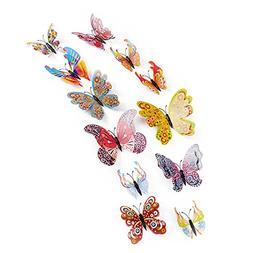 ZOMUSAR Wall Decal Butterfly, 12 Pcs 3D Wall Sticker Decals