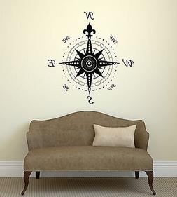 V-studios Wall Decal Compass Rose Home Decoration Geography