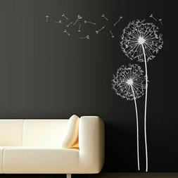 Wall Decal Dandelion Flower Nature Plants Botanic Grass Fore